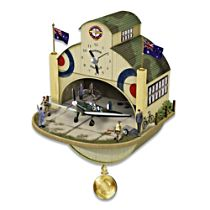 In Defence of Darwin Clock with Moving Replica Spitfire