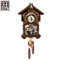 "Ned Kelly ""Such Is Life"" Cuckoo Clock with Sound and Motion"