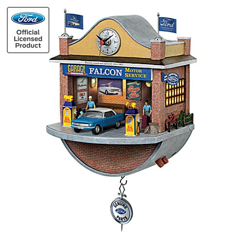 Ford Falcon Wall Clock with Lights, Sound, and Motion