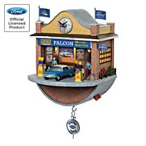 Ford Falcon Golden Generations Wall Clock with Lights, Sound, and Motion