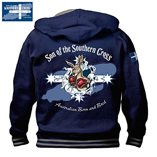 Southern Cross Hoodie with Boxing Kangaroo Motif
