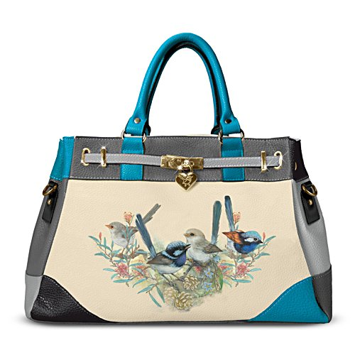 Fairy Wren Handbag with Locket-Style Heart Charm