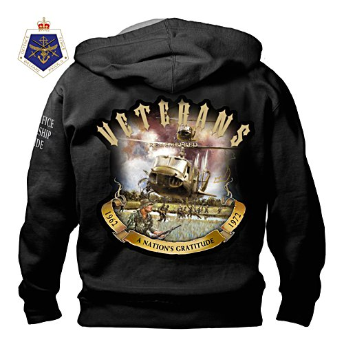 Veterans Remembered Hoodie with Custom War Art