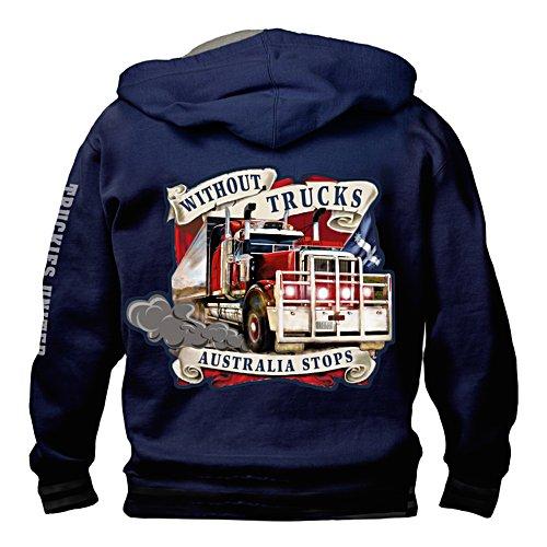 Truckies United Hoodie with Big Rig Zip Pull