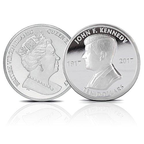 100th Anniversary John F. Kennedy Silver Piedfort Coin