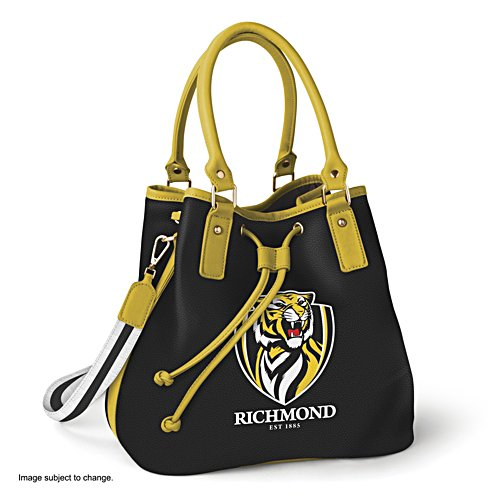 AFL Richmond Tigers Women's Drawstring Bucket Bag with Shoulder Strap