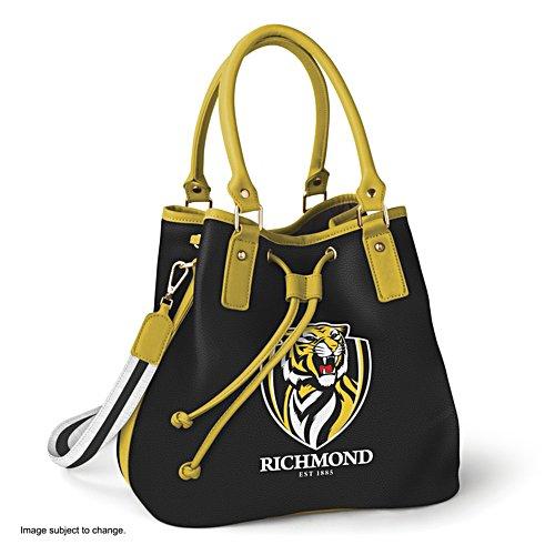 AFL Richmond Tigers Women's Drawstring Bucket Bag with Shoulder Strap