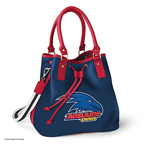 AFL Adelaide Crows Women's Drawstring Bucket Bag with Shoulder Strap