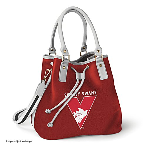 AFL Sydney Swans Women's Drawstring Bucket Bag with Shoulder Strap