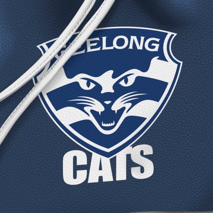 Afl Geelong Cats Women S Drawstring Bucket Bag With Shoulder Strap