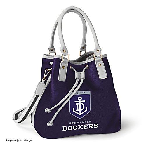 AFL Fremantle Dockers Women's Drawstring Bucket Bag with Shoulder Strap