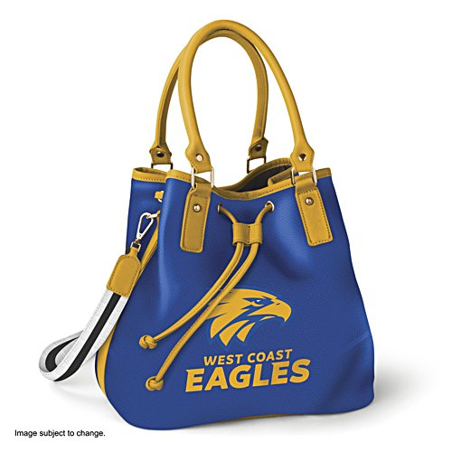 AFL West Coast Eagles Women's Drawstring Bucket Bag with Shoulder Strap