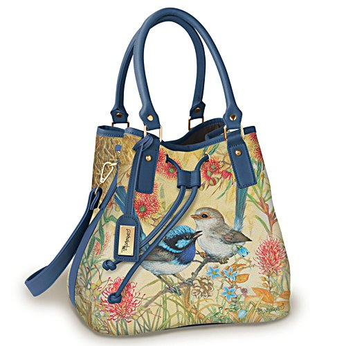 Fairy Wren Draw String Bucket Bag