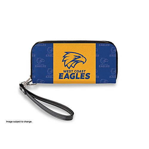 West Coast Eagles Women's Faux Leather Clutch Wallet