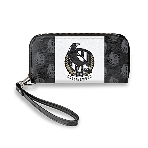 Collingwood Magpies Women's Faux Leather Clutch Wallet