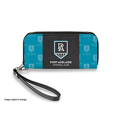 Port Adelaide Power Women's Faux Leather Clutch Wallet