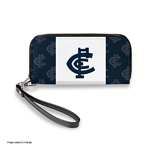 Carlton Blues Women's Faux Leather Clutch Wallet