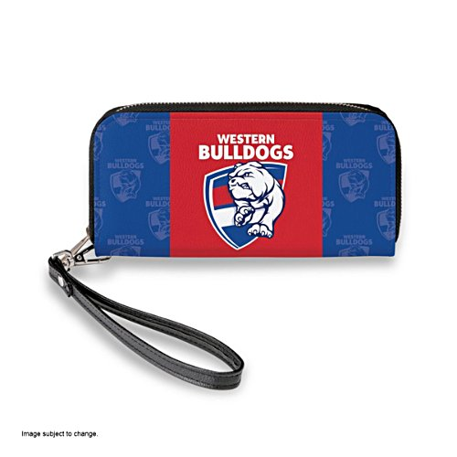 Western Bulldogs Women's Faux Leather Clutch Wallet