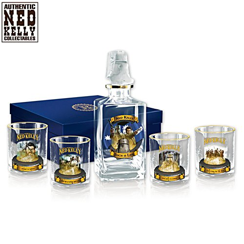 Ned Kelly 5-Piece Decanter Set With Glasses