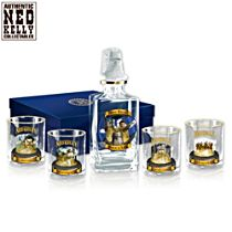 Ned Kelly Five-Piece Decanter and Glasses Set