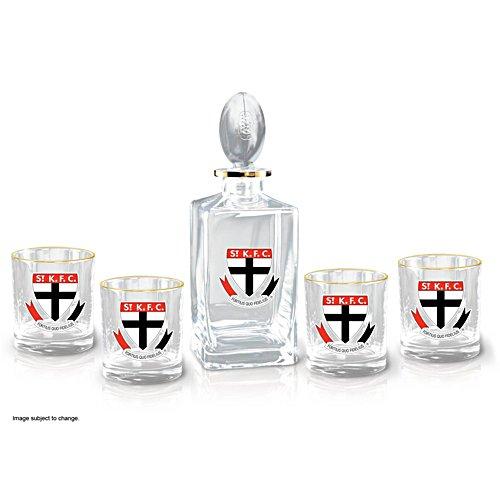 AFL St Kilda Saints Five-Piece Decanter and Glasses Set