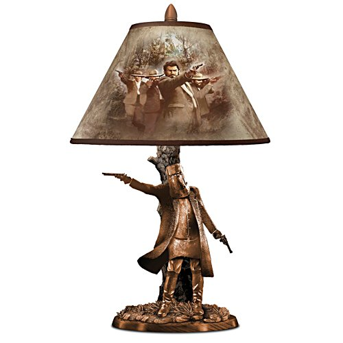 Ned Kelly Sculptural Lamp With Michael Wilkin Art