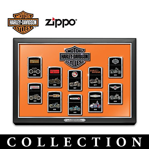 Harley Davidson  Zippo® Lighter Collection with Display