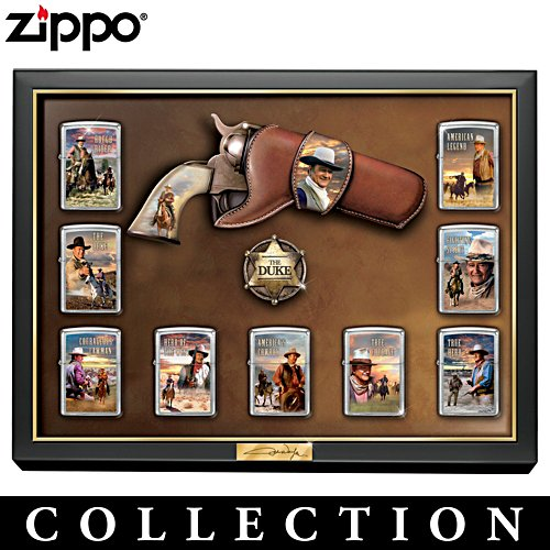 John Wayne Art Zippo® Lighter Collection with Display
