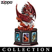 Dragon Art Zippo® Collection with Display