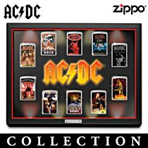 AC/DC Zippo® Lighter Collection With Display