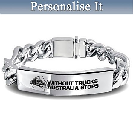 Truckies Personalised Wristband