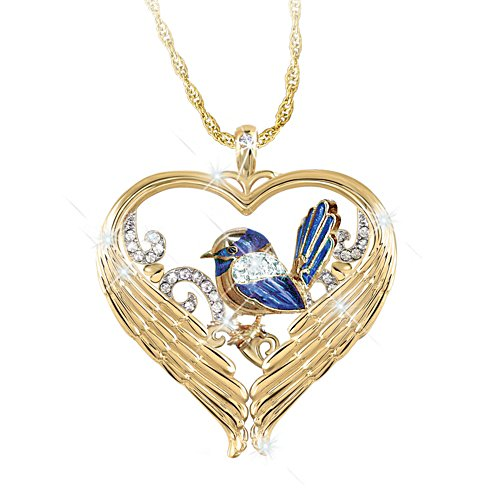 Fairy Wren 'Messenger Of Love' Bereavement Pendant