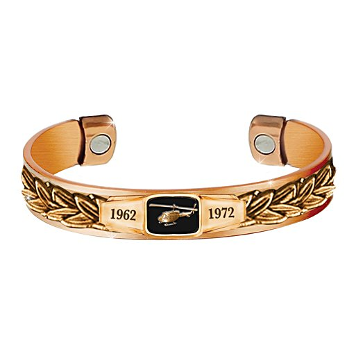 Veterans Remembered Soothing Men's Copper Cuff