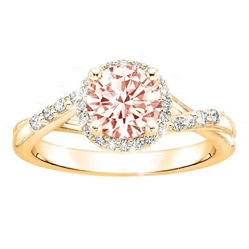 First Blush of Dawn Morganite Ring