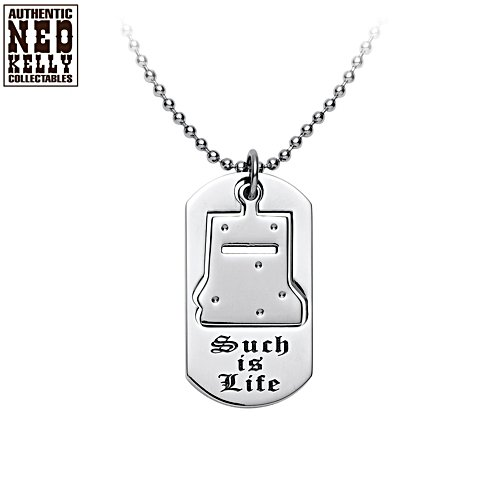 "Ned Kelly ""Such Is Life"" Pendant With Kelly's Iconic Helmet, Engravings"