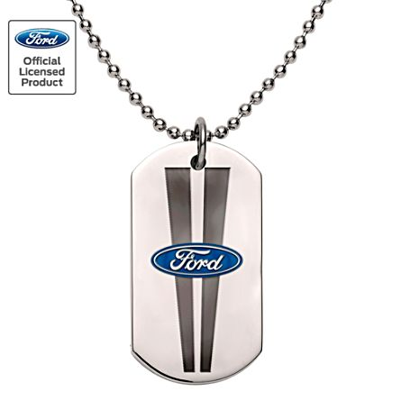 Ford Men's Stainless Steel Dog Tag