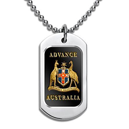 Advance Australia Dog Tag