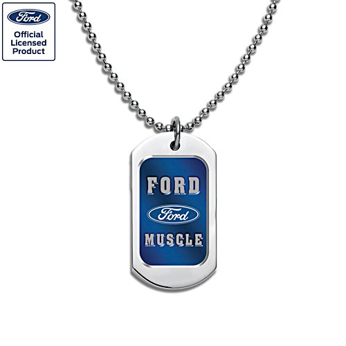 Ford GT Muscle Men's Stainless Steel Dog Tag