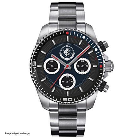 AFL Carlton Blues Men's Stainless Steel Watch