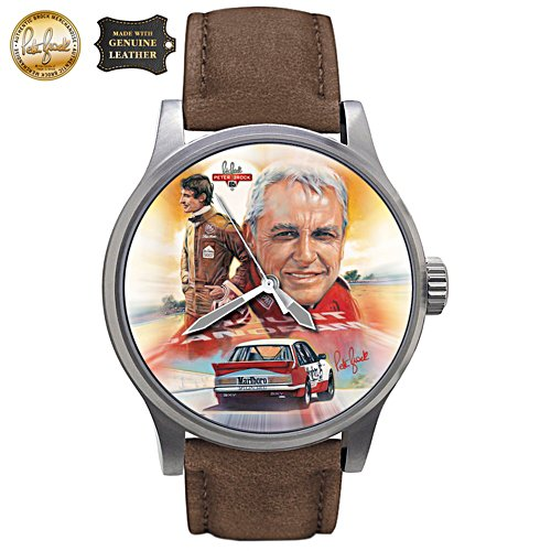 Peter Brock Tribute Art Men's Leather Watch