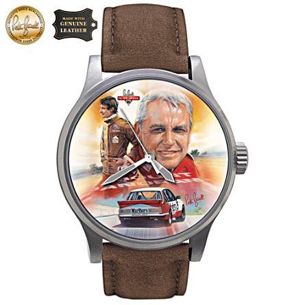 Peter Brock Tribute Art Men's Leather Watch