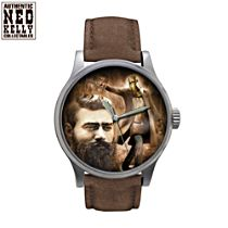 Ned Kelly Tribute Brown Leather Men's Watch