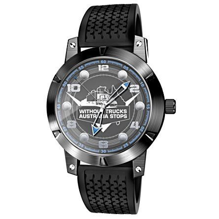 Truckies Wheel Men's Stainless Steel Watch