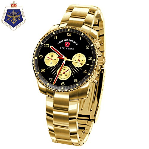 Lest We Forget Men's Gold Watch