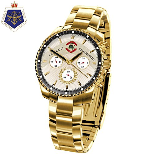 Veterans Remembered Men's Gold Watch