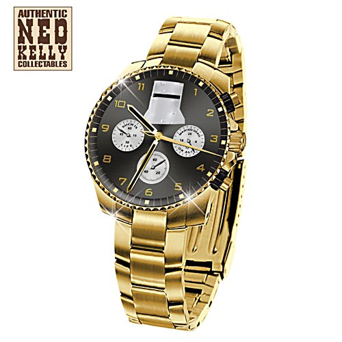 Ned Kelly Such is Life Men's Gold Watch