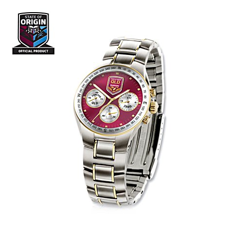 Official QLD Maroons State of Origin Chronograph Watch