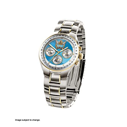 NRL Gold Coast Titans Men's Stainless Steel Watch