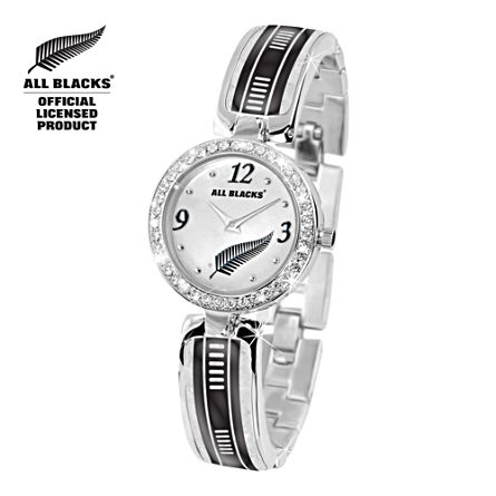 All Blacks Ladies Watch With Swarovski Crystals