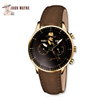 John Wayne Men's Brown Leather Watch
